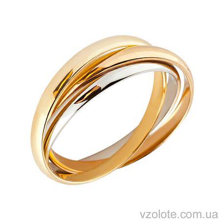 Золотое обручальное кольцо Тринити (арт. 4710509)