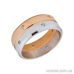 Золотое обручальное кольцо с фианитами (цирконием) (арт. 1063)