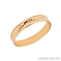 Золотое обручальное кольцо (арт. ОК019)