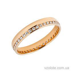 Золотое обручальное кольцо с фианитами (цирконием) (арт. 4121800)