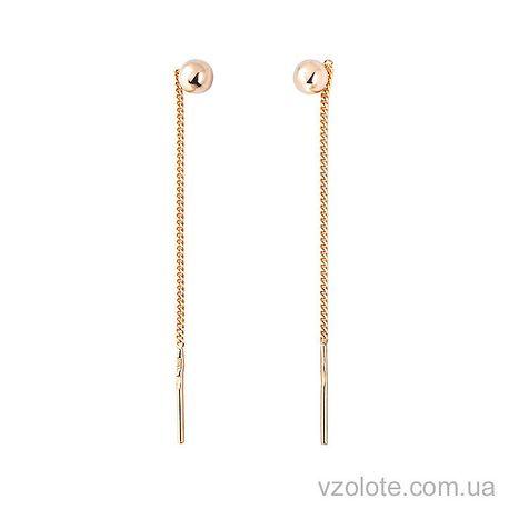 Золотые серьги-цепочки (арт. 100103)