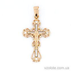 Золотой крестик с фианитами (арт. 501632кб)
