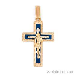 Золотой крест с эмалью (арт. 541131нсш)