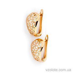 Золотые серьги (арт. 111400)