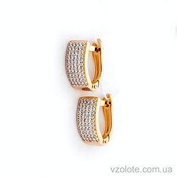 Золотые серьги с фианитами (арт. 110431)