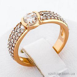 Золотое кольцо с фианитами (арт. 140384)
