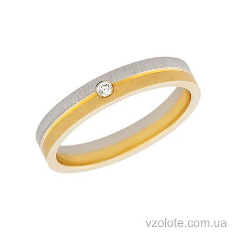 Золотое обручальное кольцо с бриллиантом (арт. 451677-1бр)