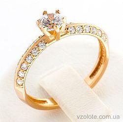 Золотое кольцо с фианитами (арт. 11933)