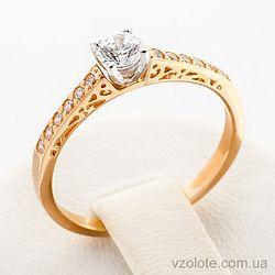 Золотое кольцо с фианитами (арт. 12349)