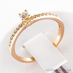 Золотое кольцо с фианитами (арт. 12262)