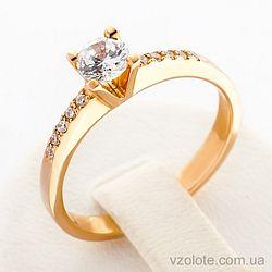 Золотое кольцо с фианитами (арт. 11935)