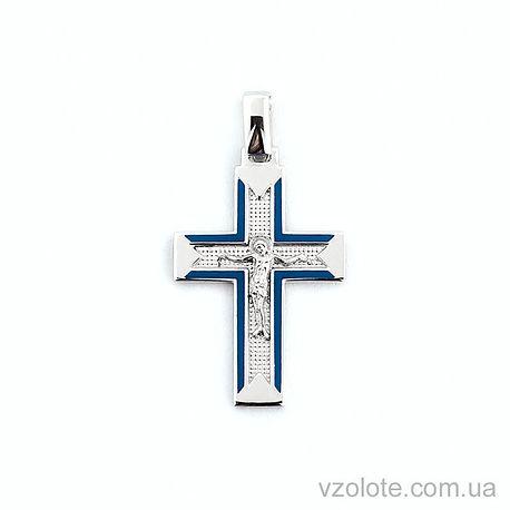 Золотой крестик с эмалью (арт. 505013бс)