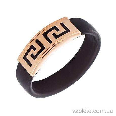 Каучуковое кольцо с золотой вставкой (арт. 900619)