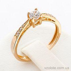 Золотое кольцо с фианитами (цирконием) (арт. 12199)