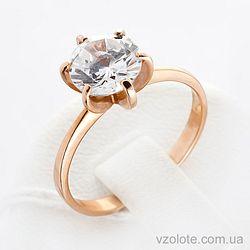 Золотое кольцо с фианитом (цирконием) (арт. кв118и)