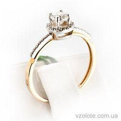 Золотое кольцо с фианитами (цирконием) (арт. 11973)