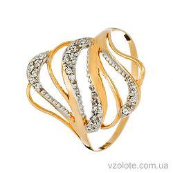 Золотое кольцо с фианитами (цирконием) (арт. 12097)