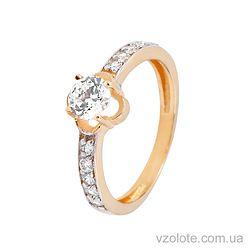 Золотое кольцо с фианитами (цирконием) (арт. 11863)