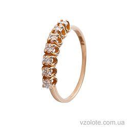 Золотое кольцо с фианитом (цирконием) (арт. 11902)