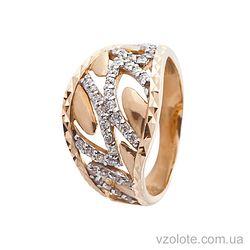 Золотое кольцо с фианитом (цирконием) (арт. 111581)
