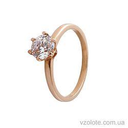 Золотое кольцо с фианитом (цирконием) (арт. 11888)