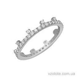 Золотое кольцо с фианитами (арт. 1101276102)