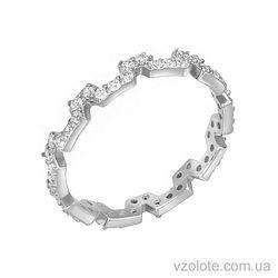 Золотое кольцо с фианитами (арт. 1101282102)