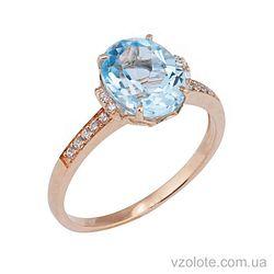 Золотое кольцо с топазом (арт. 1190602101)