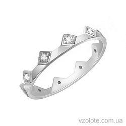 Золотое кольцо с фианитами Корона (арт. 1101277102)