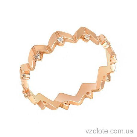 Золотое кольцо с фианитами (арт. 1101275101)