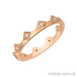 Золотое кольцо с фианитами (арт. 1101277101)