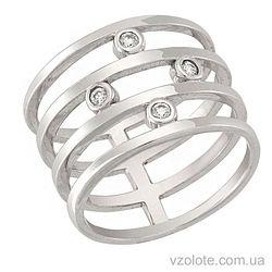 Золотое кольцо с фианитами (арт. 1101132102)