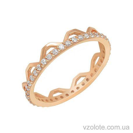 Золотое кольцо с фианитами (арт. 1101280101)