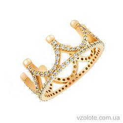 Золотое кольцо с фианитами Корона (арт. 1101274103)