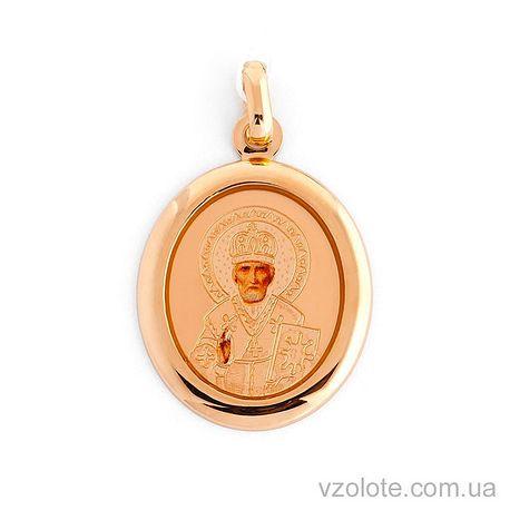 Золотая ладанка Святой Николай (арт. 420107)