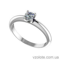 Золотое помолвочное кольцо с бриллиантом Anastasya (арт. EKDG4)