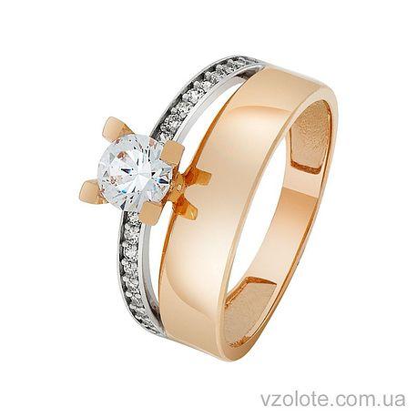 Золотое кольцо с фианитами (арт. 1101430101)