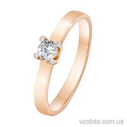 Золотое кольцо с фианитом (арт. 1101474101)