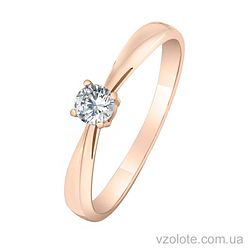 Золотое кольцо с фианитами (арт. 1101478101)
