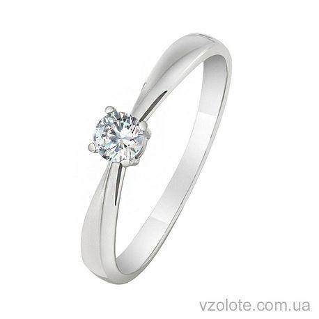 Золотое кольцо с фианитом (арт. 1101478102)