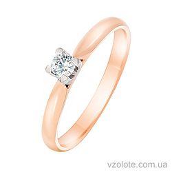 Золотое кольцо с фианитом (арт. 1101479101)