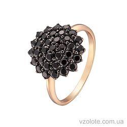 Золотое кольцо с фианитами (арт. 1190763101ч)