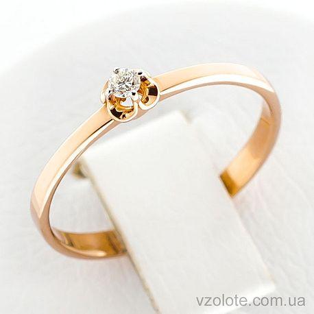 Золотое кольцо с бриллиантом (арт. 1190497201)