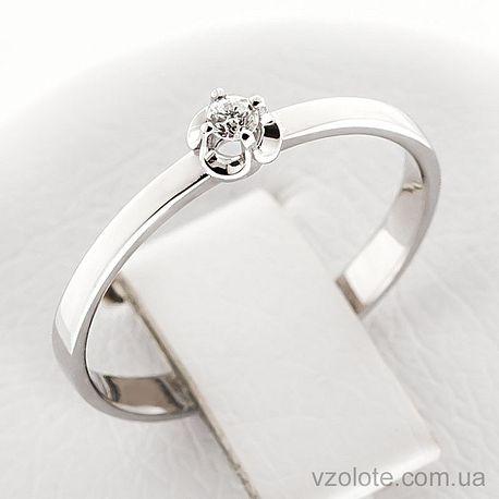 Золотое кольцо с бриллиантом (арт. 1190497202)