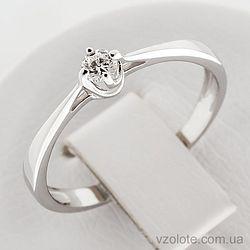 Золотое кольцо с бриллиантом (арт. 1190751202)