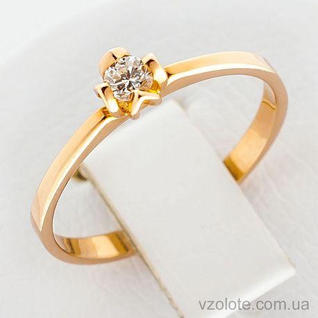 Золотое кольцо с бриллиантом (арт. 1100800201)