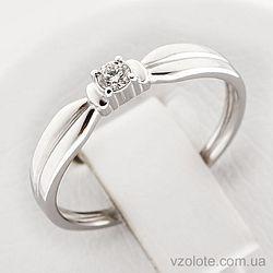 Золотое кольцо с бриллиантом (арт. 1100972202)