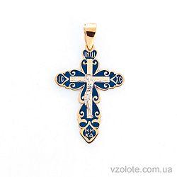 Золотой крестик с эмалью (арт. 505002с)