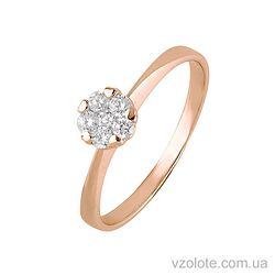 Золотое кольцо с фианитами (арт. 1190834101)