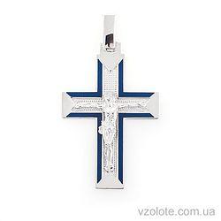 Золотой крест с эмалью (арт. 505009бс)